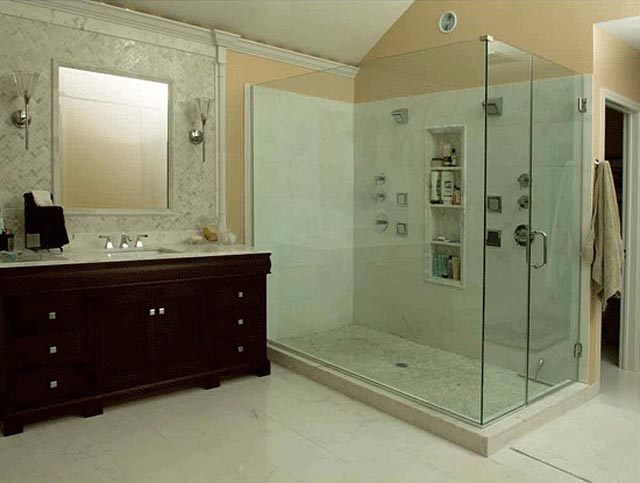 Bathroom Shower Remodel bathroom remodel: shower and sink - jack edmondson plumbing and