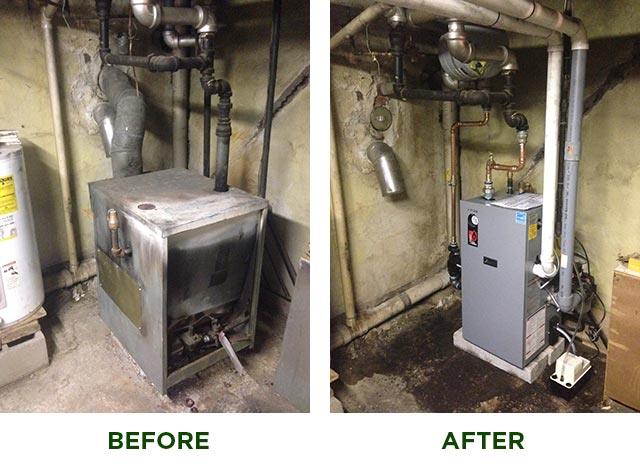 Heating--Before and After Heater Installation