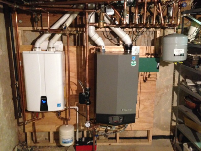 New Gas Boiler and Navien Tankless Water Heater